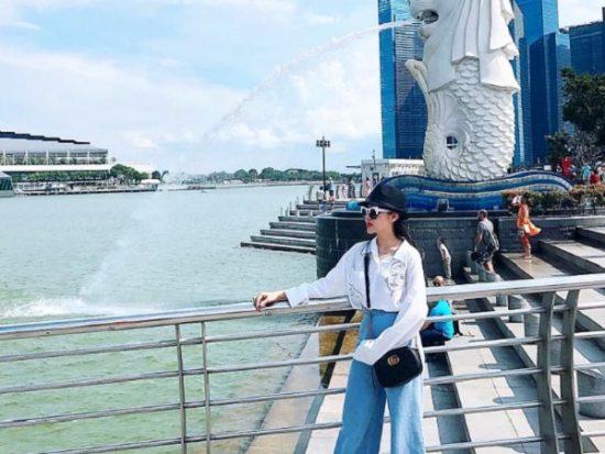 Du lịch Singapore 3 ngày 2 đêm. Đến công viên Merlion Park