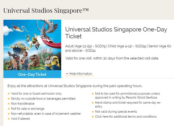Gía vé tham quan Universal Studio Singapore USS mới nhất. Kinh nghiệm đi chơi ở Universal Studio Singapore