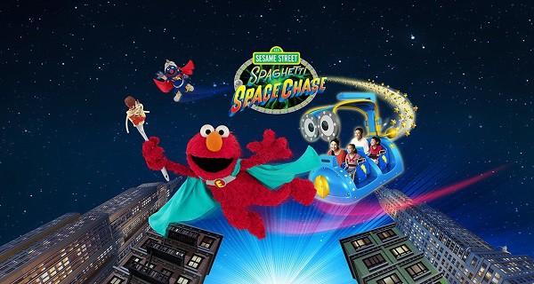 Kinh nghiệm đi chơi Universal Studio Singapore. Chơi gì ở Universal Studios Singapore? Sesame Street Spaghetti Space Chase