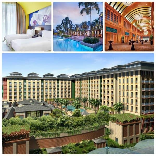 Kinh nghiệm du lịch Sentosa, đặt phòng tại Festive Hotel