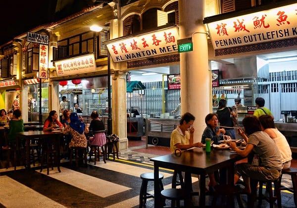 Kinh nghiệm du lịch đảo Sentosa, ăn uống tại Malaysian Food Street