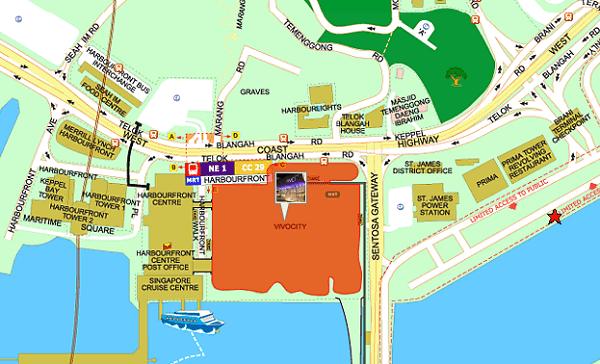 Hướng dẫn cách đi đến trung tâm thương mại VivoCity Singapore
