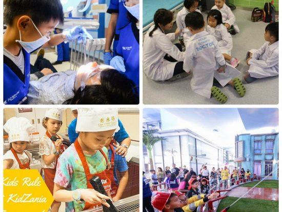 Các bé hóa thân thành bác sĩ, cứu hỏa, đầu bếp trong công viên KidZania Singapore