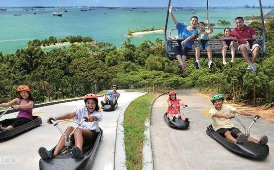 Sentosa Skyline Luge - điểm tham quan, vui chơi ngoài trời ở Sentosa