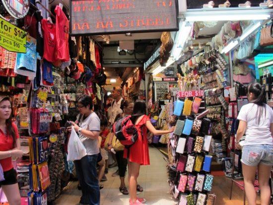 Khu chợ trời Bugis Street Market. Khu chợ sầm uất ở Singapore