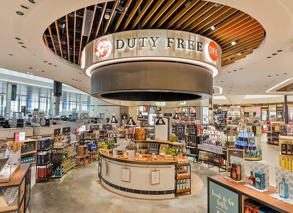 Mua hàng duty free ở sân bay Changi, mua rượu ở DFS Wines & Spirits