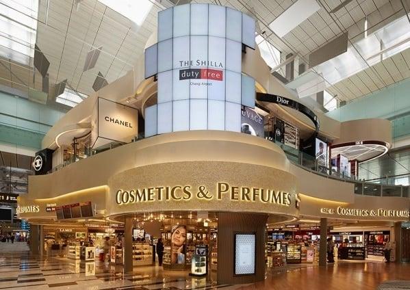 Mua hàng duty free ở sân bay Changi, mua mỹ phẩm ở Shilla Duty Free