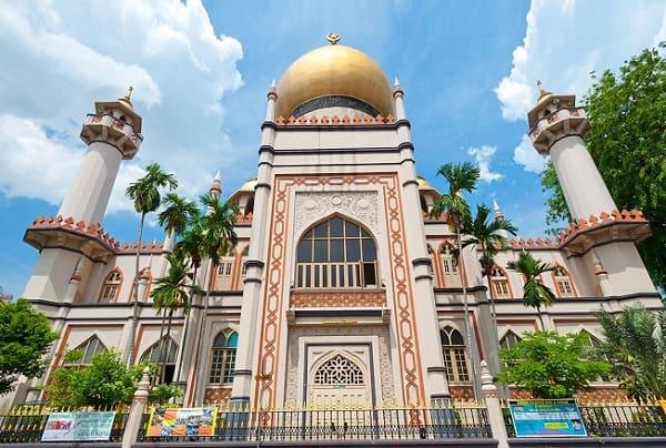 Đi đâu chơi gì ở Singapore 1 ngày, nhà thờ hồi giáo Masjid Sultan