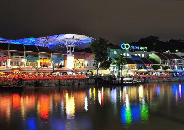 Chơi gì ở Singapore 1 ngày, chơi đêm ở Clarke Quay