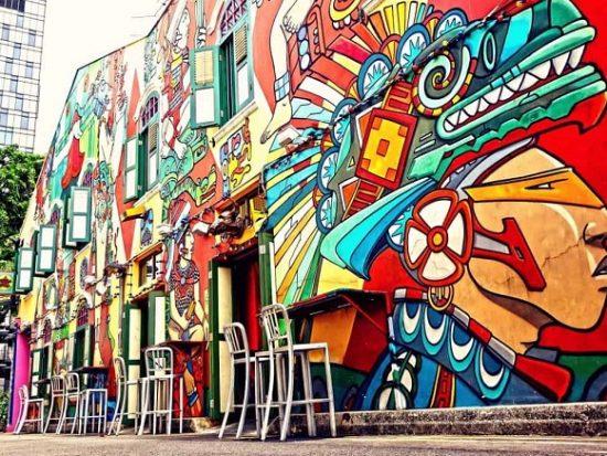 Kinh nghiệm du lịch Haji Lane Singapore: Graffiti Art là địa chỉ chụp ảnh sống ảo nổi tiếng ở khu phố Haji Lane Singapore