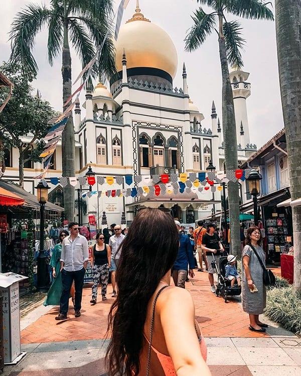 Địa điểm chụp hình đẹp ở Singapore, nhà thờ Hồi giáo Masjid