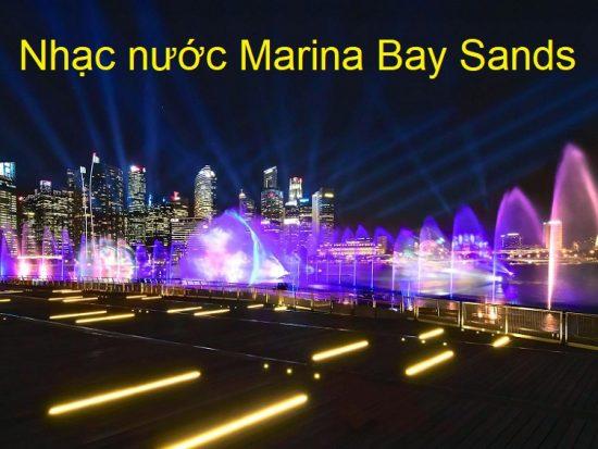 Nhạc nước ở Marina Bay Sands