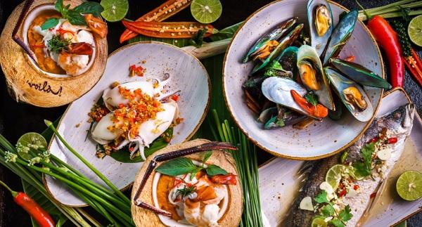 Một số món ăn của nhà hàng hải sản nổi tiếng Bangkok Voila! Restaurant - Sofitel Bangkok Sukhumvit