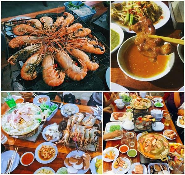 Địa chỉ ăn Buffet ở Bangkok, đến Nud Pob Seafood Suki & BBQ thưởng thức những chú tôm siêu tươi và to.