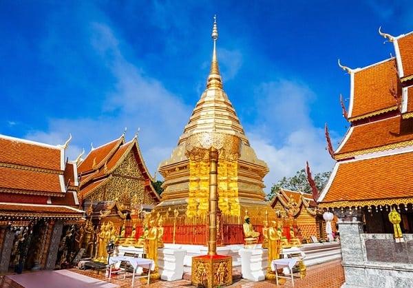 Kinh nghiệm du lịch Chiang Mai. Đến chùa Wat Phrathat Doi Suthep khám phá ngôi tháp linh thiêng