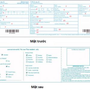 Hướng dẫn cách điền tờ khai nhập cảnh Thái Lan 2019 chi tiết