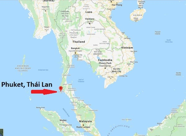 Kinh nghiệm du lịch Phuket: Bản đồ vị trí của Phuket. Du lịch Phuket bằng phương tiện gì?