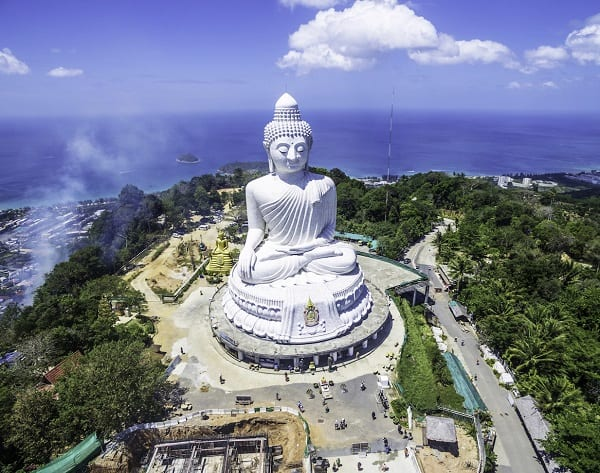 Kinh nghiệm du lịch Phuket giá rẻ: Du lịch Phuket đi đâu chơi? Tượng phật Big Buddha