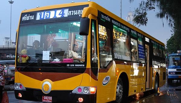 Đi xe bus từ sân bay Suvarnabhumi về trung tâm Bangkok