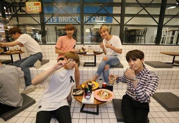 Các thành viên BTS đã từng ghé đến BTS Brick Live Cafe
