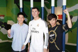 Ngôi sao bóng đá Cristiano Ronaldo được mô phỏng trong bảo tàng Madame Tussauds, Bangkok