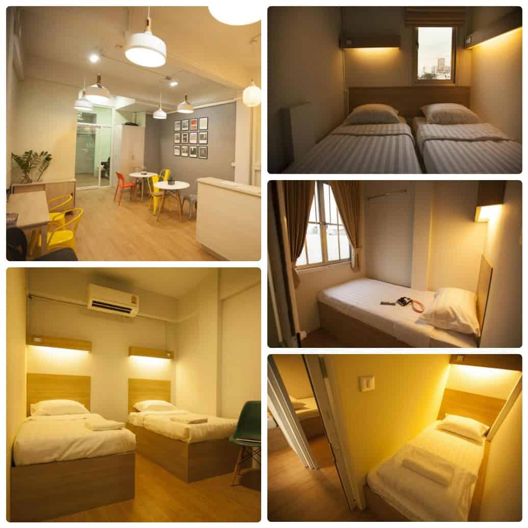 Micro hostel, nhà nghỉ giá rẻ ở Bangkok gần khu mua sắm