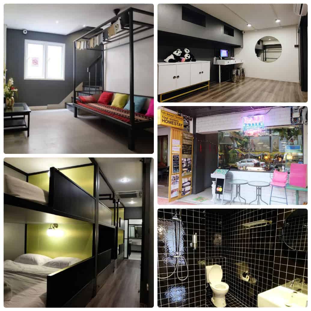 Four Sisters Homestay, hostel giá rẻ ở Bangkok gần Chinatown