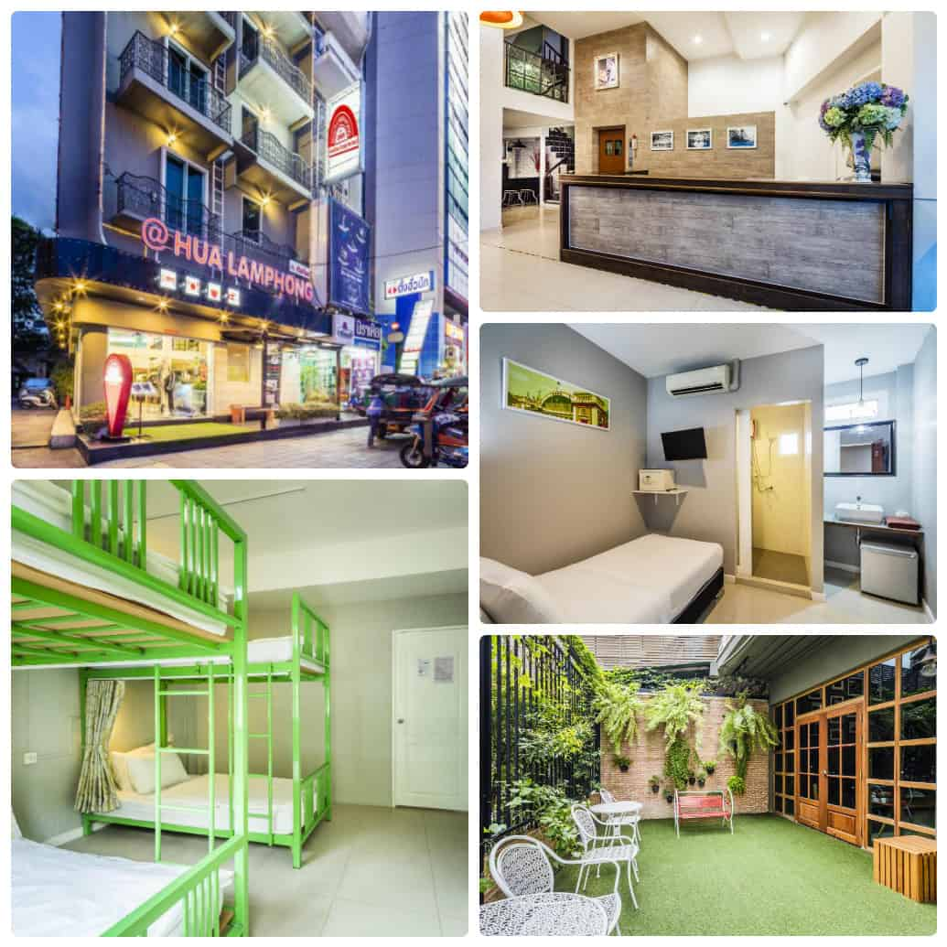 Hua Lamphong Hostel, nhà nghỉ giá rẻ ở Bangkok gần ga Hua Lamphong