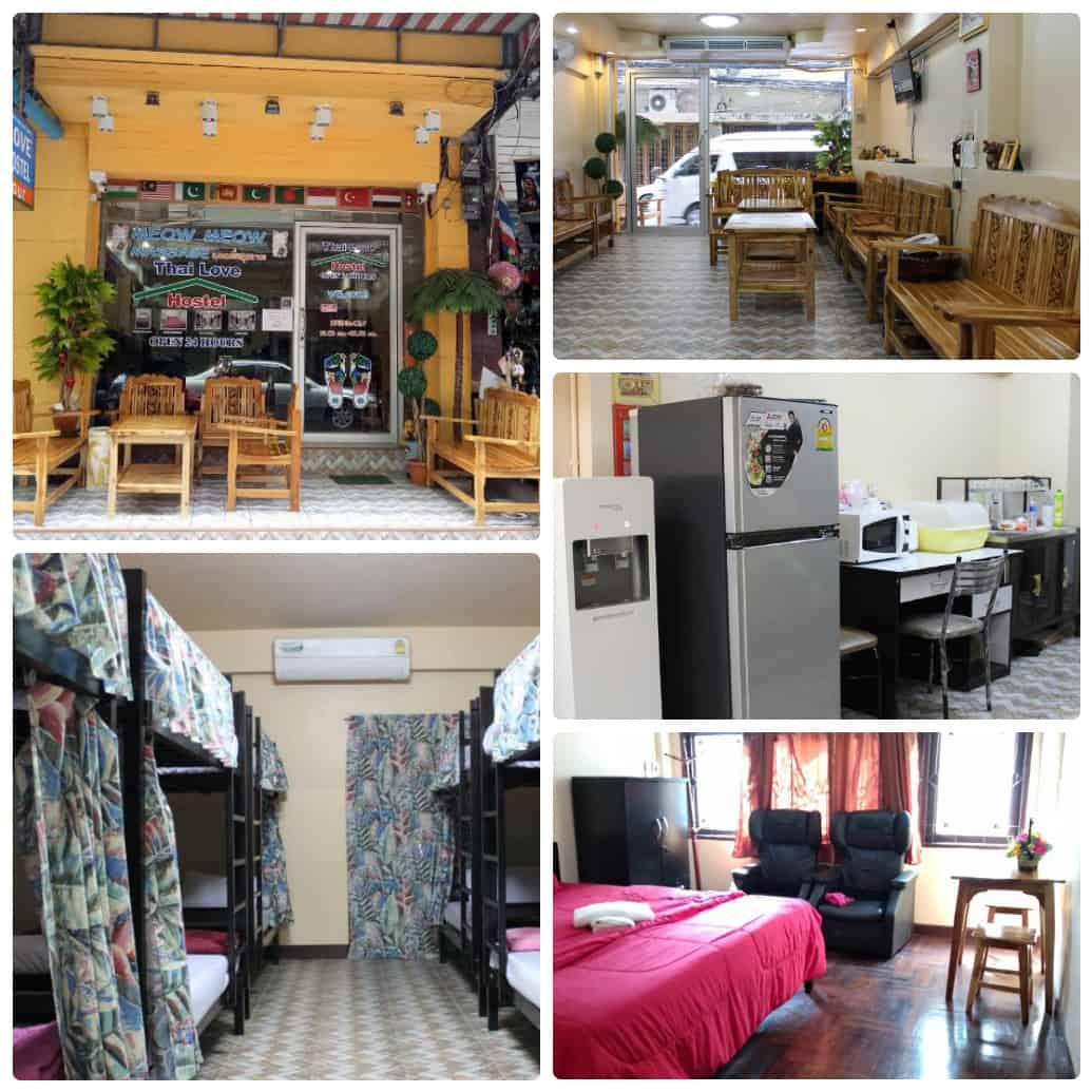 Thai love cafe & hostel - nhà nghỉ giá rẻ Bangkok gần chợ Pratunam
