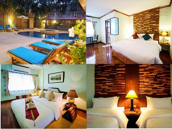 Khách sạn bình dân ở phố cổ Chiang Mai có hồ bơi ngoài trời. Kinh nghiệm đặt khách sạn ở Chiang Mai. Estia Hotel Chiang Mai