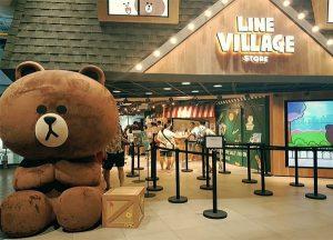 Cổng vào khu vui chơi LINE Village Bangkok