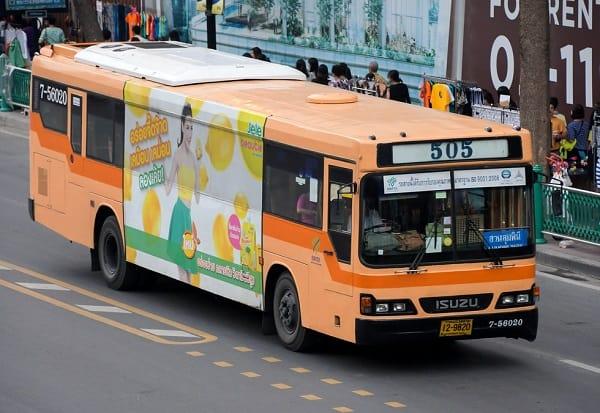Kinh nghiệm đi xe bus ở Bangkok, xe bus là phương tiện di chuyển phổ biến ở Bangkok
