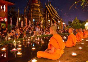 Lễ hội hoa đăng Loy Krathong là lễ hội truyền thống nổi tiếng của Thái Lan