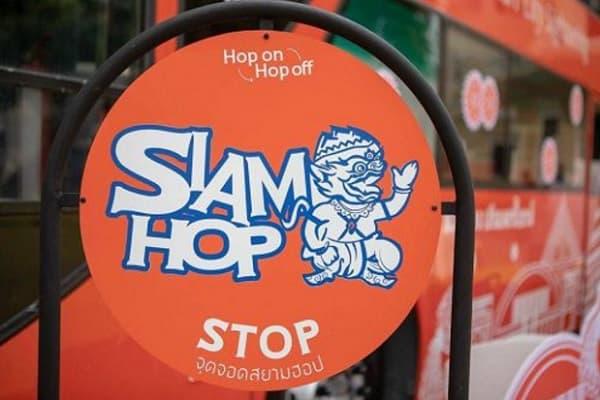 Điểm dừng xe bus Hop On Hop Off của Siam Hop
