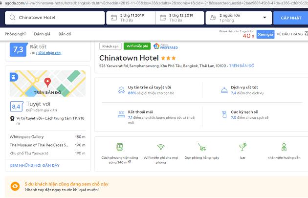 Đặt khách sạn Thái Lan trên Agoda giá tốt - Các tiêu chí chọn khách sạn