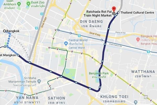 Chợ đêm đường ray Rachada. Chợ đêm độc đáo nhất ở Bangkok