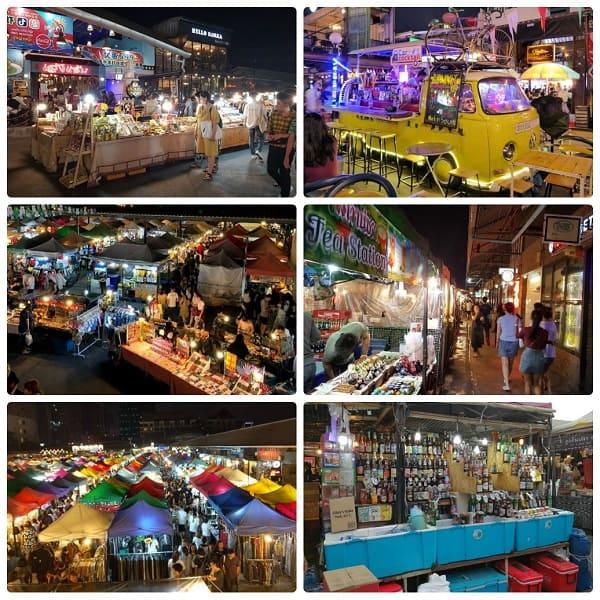 Chợ đêm đường ray Rachada. Chợ đêm đông khách nhất ở Bangkok