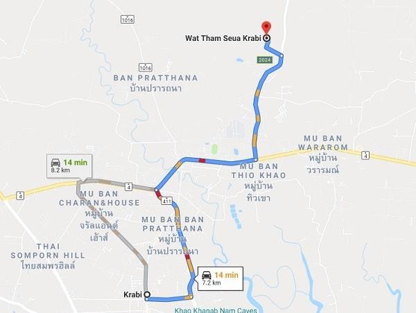 Đền Tiger Cave Temple. ĐếnTiger Cave Temple bằng cách nào? Di chuyển bằng taxi