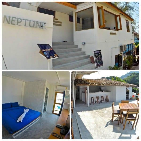Du lịch Koh Tao tiết kiệm nên chọn khách sạn Neptune Hostel là điểm dừng chân