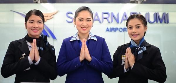 Cách di chuyển từ sân bay quốc tế Suvarnabhumi đến Bangkok. Sây bay quốc tế Suvarnabhumi