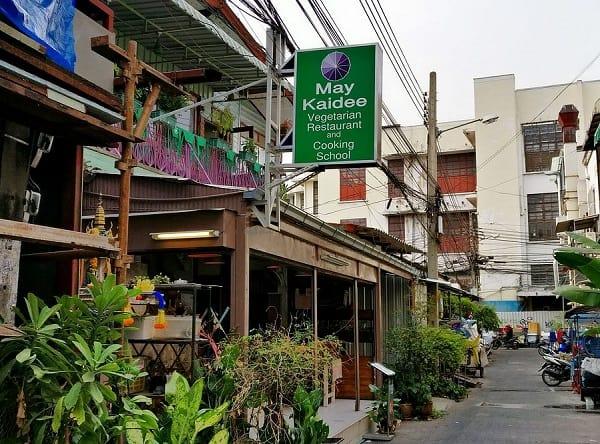 May Kaidee, nhà hàng chay ở Bangkok thuộc khu Khaosan