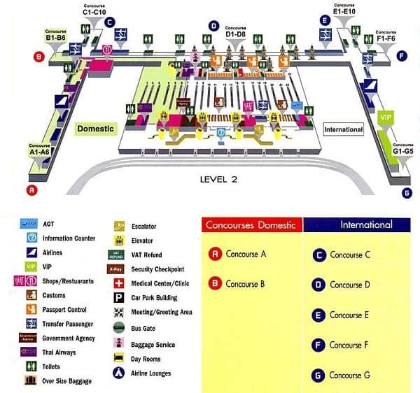 Sân bay Suvarnabhumi. Sân bay có thiết kế độc đáo ở Thái Lan
