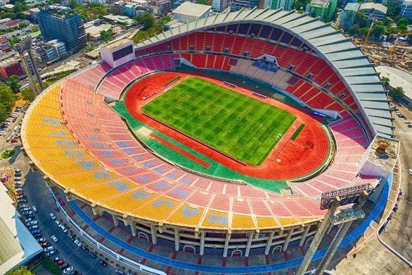 Sân vận động Rajamangale có sức chứa lên đến gần 50.000 người