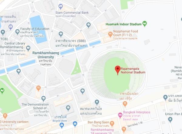 Bản đồ địa chỉ Sân vận động Rajamangala