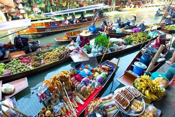 Tour du lịch Bangkok giá rẻ, tour khám phá chợ nổi Thái Lan