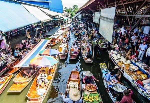 Tour du lịch Bangkok giá rẻ, tour khám phá chợ nổi Amphawa