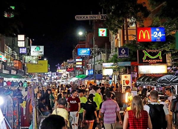 Đón Tết dương lịch ở Thái Lan, khu vực Khao San Road