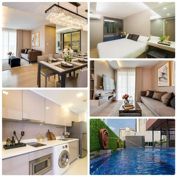 Thuê airbnb ở Bangkok nào tốt nhất? Căn hộ 2 phòng ngủ ở Residence 187 By Ariva