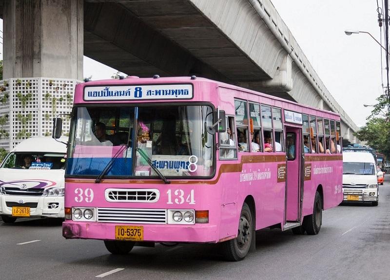 Kinh nghiệm đi lại ở Thái Lan, phương tiện di chuyển ở Thái Lan, xe bus ở Bangkok